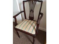2 Mahogany dining chairs