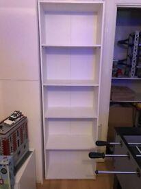 Lovely White 5 Tier Extra Deep Bookcase Shelf Storage Display Unit