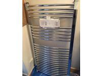 Bathroom chrome towel radiator