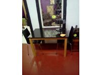 Marble top table and 2 chairs