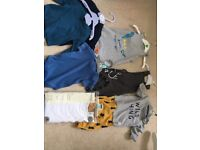 Baby boys 0-3 months mothercare next Bundle clothes Dungarees Tshirts tops 0-3