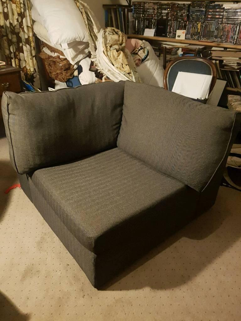 Marks and Spencer Grey herringbone corner armchair | in ...