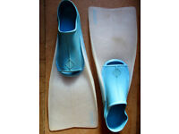"Mares ""Master"" Swim/Scuba Fins - Blue & White/Clear"