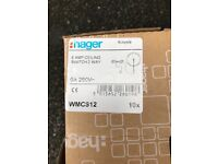HAGER 6 AMP ceiling switch 2 way - brand new - 8 in total