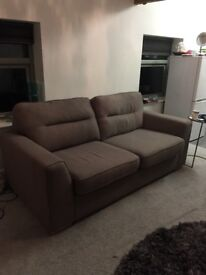 Grey sofa. 9 months old, good condition. For collection from 23rd to 30th march.
