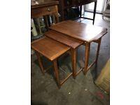 Teak nest of tables