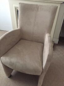 x4 Genuine Italian Dining Chairs - Suede