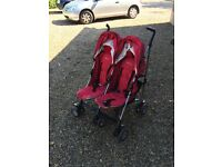 Silver cross double buggy