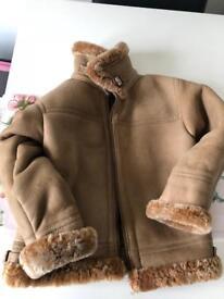 Beautiful Handmade Genuine Sheepskin Brown Fur Lined Coat