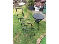 Table and foldable display stands, £15