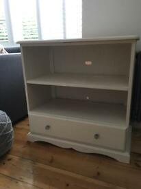 Solid pine tv cabinet chalk painted
