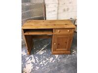 Solid pine computer desk