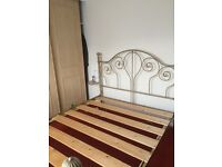 King size metal bed frame, dismantled ready for collection from Biggleswade