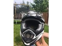 Motorcross gsb helmet with goggles