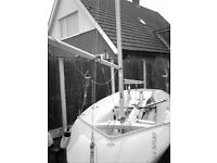 420 SAILING DINGHY EQUIPPED WITH TRAILER LAUNCH TROLLEY SPINIKKER TRAPEZE. BOUGHT YACHT HENCE SALE