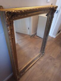 Large Ornate Gold Coloured Mirror