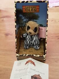 4 Meerkat teddies in boxes