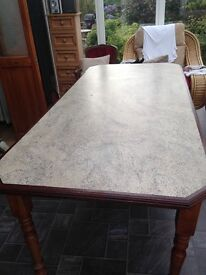 Large bespoke formica topped dining table