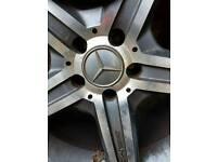 5 spoke Mercedes amg wheels