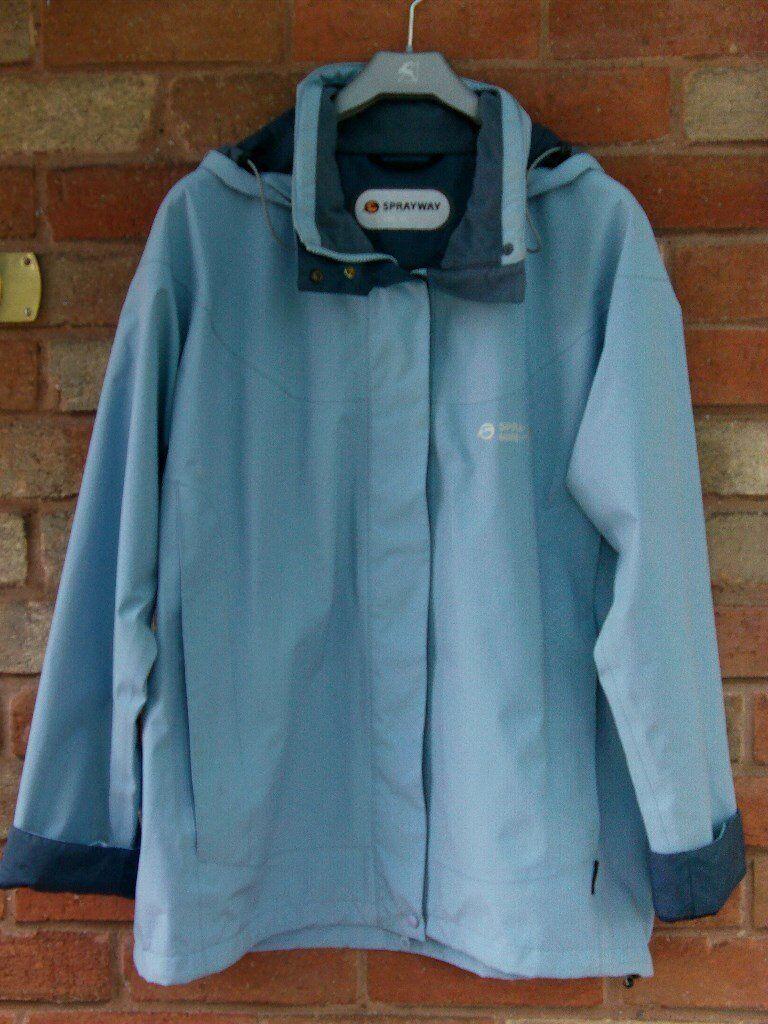 Ladies Sprayway Jacket, XL, blue