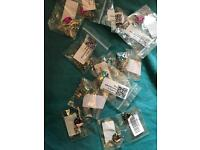 13 x mixed lot jewellery items gem in bottle necklace doughnut key ring