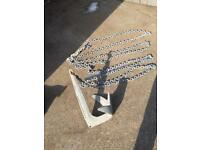 TREFOIL 13kg anchor and chain.