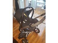 Quinny buzz xtra travel system car seat and carrycot