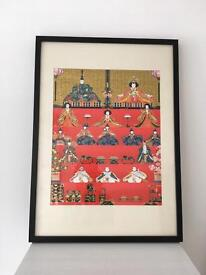 Frame with Japanese print brought in Tokyo £8