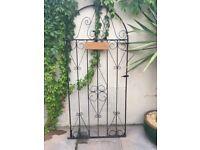 Large steel garden gate