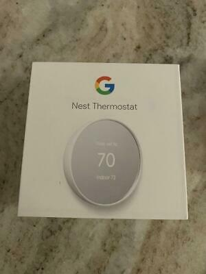 Google Nest Thermostat G4CVZ Smart Thermostat Wifi - Snow GA01334-US -USED