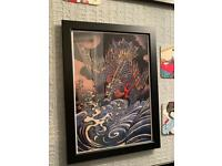 SOLD - Japanese framed picture - 4 of 10