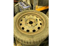 "Ford Fiesta / Focus 15"" 4 stud spare wheel and tyre"