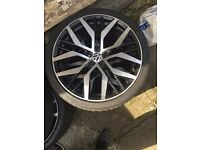 "VW 18"" ALLOY WHEEL WITH TYRE"