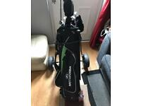 Used V-MAX junior golf set and wheels.