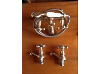 Brass Set of Bathroom Taps