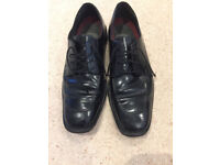CLARKS BOSTONIAN Leather Mens Smart Lace-Up Comfort Shoes Size 11 UK