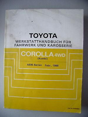 Toyota Werkstatthandbuch Fahrwerk Karosserie Corolla 4W
