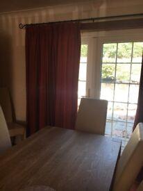 FREE Burnt Orange lined curtains (4 pairs)