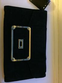 Black and gold clutch Dorothy Perkins new with tags *broken clasp*