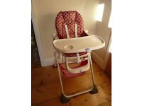 Chicco Pocket Lunch high chair. In excellent condition.