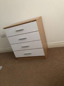 3 piece furniture set. Chest of drawers/ side drawer/ toy box