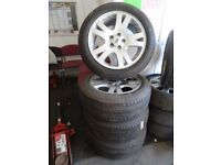 """SET OF NEWLY REFURBD 19"""" RANGEROVER ALLOYS 4 GUD MATCHING GUDYEARS ALL ROUND £350ono LOADS MORE 7DYS"""