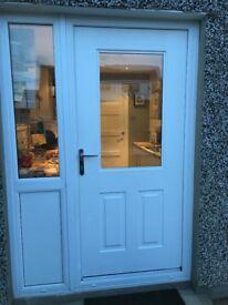 White upvc external door - Rockdoor white