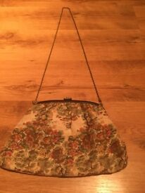 Vintage Tapestry handbag bought in San Fransico can be used as clutch or over the shoulder