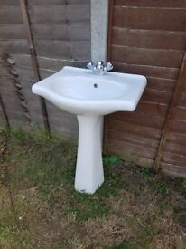 Bath sink and tap