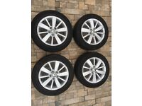 "Genuine VW 16"" alloys with tyres"