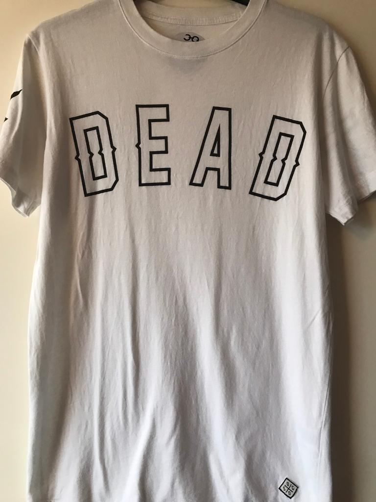 Drop Dead T Shirtin Willerby, East YorkshireGumtree - Drop Dead label white t shirt size small. £8 ono. Buyer to collect