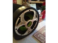 Fusion 10 inch bass tube sub woofer with built in Amp