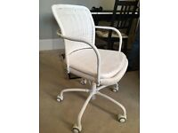 Comfortable barely-used adjustable white IKEA office swivel chair Gregor from West Dulwich