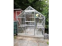 6ft x 6ft Aluminium and Glass Greenhouse